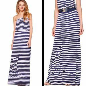 Lilly Pulitzer Emmett Stripe Strapless Maxi Dress